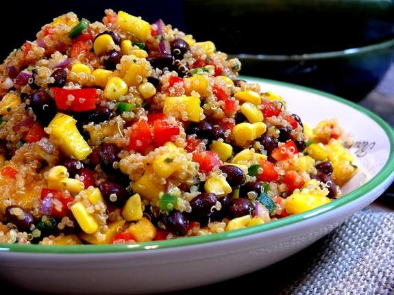 Southwest-Quinoa-with-a-Black-Bean-Mango-Medley